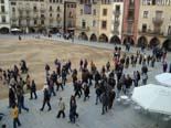 Manifestació contra Anglada i PxC a Vic Manifestació cap al carrer de Verdaguer.