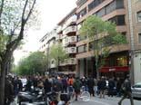 Manifestació contra Anglada i PxC a Vic Concentració davant de l'edifici on viu Anglada.