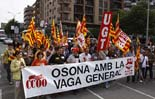 Manifestació: 8 de juny, vaga dels treballadors del sector públic a Vic