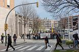 Manifestació d'estudiants a Vic