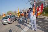 El seguiment de la vaga a Vic, en imatges