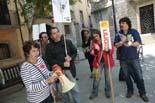 Protesta contra la política del departament d'Educació