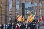 Protesta sindical a Vic contra els pressupostos antisocials