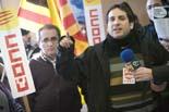 Protesta de CCOO i UGT a la tresoreria de la Seguretat Social