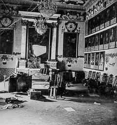 Revolució, guerra i franquisme a Vic Destrucció de la Sala de Sínodes del Palau Episcopal.