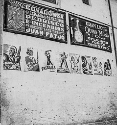 Revolució, guerra i franquisme a Vic Cartells de propaganda de guerra ala plaça de Santa Clara.