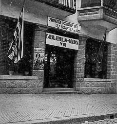 Revolució, guerra i franquisme a Vic Seu d'Esquerra Republicana de Catalunya (ERC), a la casa Puig, del carrer de Verdaguer.