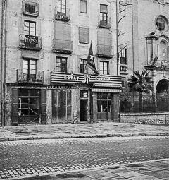Revolució, guerra i franquisme a Vic Seu d'Estat Català (EC) a la rambla de les Davallades.