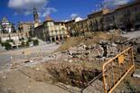 Seguiment de les obres de la plaça Fra Bernadí de Manlleu (1) 05/10/2010