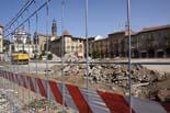 Seguiment de les obres de la plaça Fra Bernadí de Manlleu (1) 07/10/2010