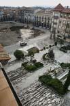 Seguiment de les obres de la plaça Fra Bernadí de Manlleu (2) 14/10/2010