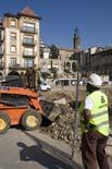 Seguiment de les obres de la plaça Fra Bernadí de Manlleu (2) 22/10/2010