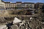 Seguiment de les obres de la plaça Fra Bernadí de Manlleu (2) 27/10/2010