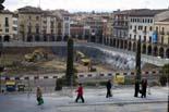 Seguiment de les obres de la plaça Fra Bernadí de Manlleu (2) 09/11/2010