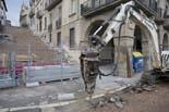 Seguiment de les obres de la plaça Fra Bernadí de Manlleu (2) 01/12/2010