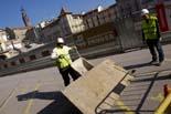 Seguiment de les obres de la plaça Fra Bernadí de Manlleu (4) 20-01-2011