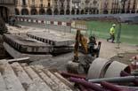 Seguiment de les obres de la plaça Fra Bernadí de Manlleu (4) 27-01-2011