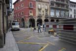Seguiment de les obres de la plaça Fra Bernadí de Manlleu (4) 15-02-2011