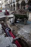 Seguiment de les obres de la plaça Fra Bernadí de Manlleu (6) 31-03-2011