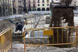 Seguiment de les obres de la plaça Fra Bernadí de Manlleu (6) 04-05-2011