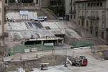Seguiment de les obres de la plaça Fra Bernadí de Manlleu (7) 02-06-2011
