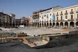 Seguiment de les obres de la plaça Fra Bernadí de Manlleu (7) 11-07-2011