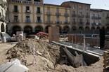Seguiment de les obres de la plaça Fra Bernadí de Manlleu (7) 21-10-2011