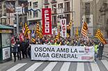 Vaga general #14N: manifestació a Vic