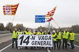 Vaga general #14N: matí amb els piquets