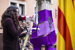 Concentració «Lluitem pels drets de totes» a Vic