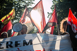Manifestació a Vic amb motiu de l'1 de maig
