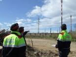 Inspecció d'aigües per part de l'URMA dels Mossos d'Esquadra Agents de l'URMA del cos de Mossos d'Esquadra, en una visita al riu Francolí
