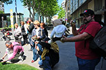 El making-of de la guerrilla de les Ganxetes del Pòrtia per Sant Jordi, 2013