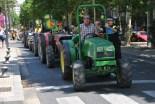 Tractorada d'Unió de Pagesos pel centre de Reus