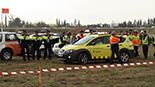 Simulacre d'accident a l'Aeroport de Reus Imatges del simulacre d'AENA a l'Aeroport de Reus. Els primers equips d'emergència.