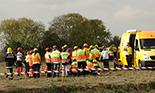 Simulacre d'accident a l'Aeroport de Reus Imatges del simulacre d'AENA a l'Aeroport de Reus. Tots els efectius del SEM.