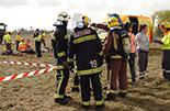 Simulacre d'accident a l'Aeroport de Reus Imatges del simulacre d'AENA a l'Aeroport de Reus. Bombers d'AENA i Bombers de la Generalitat.