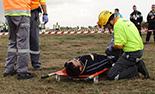 Simulacre d'accident a l'Aeroport de Reus Imatges del simulacre d'AENA a l'Aeroport de Reus. SEM