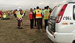 Simulacre d'accident a l'Aeroport de Reus Imatges del simulacre d'AENA a l'Aeroport de Reus. Comandaments.