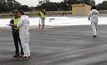 Simulacre d'accident a l'Aeroport de Reus Imatges del simulacre d'AENA a l'Aeroport de Reus. Agents de la policia judicial de la Guàrdia Civil.