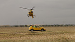 Simulacre d'accident a l'Aeroport de Reus Imatges del simulacre d'AENA a l'Aeroport de Reus. Helicòpter del SEM.