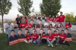 Municipals 2015: Inici de la campanya electoral a Sabadell L'equip del PSC amb el candidat Josep Ayuso.