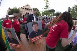 Municipals 2015: Inici de la campanya electoral a Sabadell Moment de l'acte d'inici de campanya del PSC.