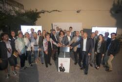 Municipals 2015: Inici de la campanya electoral a Sabadell L'alcaldable de CiU, Carles Rossinyol, acompanyat pel seu equip.