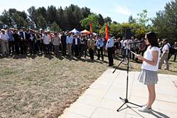 Aplec de la Salut de Sabadell 2015 Discurs de Camino Llonch en memòria de les víctimes.
