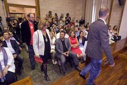 Ple de constitució de l'Ajuntament de Sabadell Marisol Martínez entra al Ple.