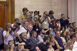 Ple de constitució de l'Ajuntament de Sabadell Espectació mediàtica.