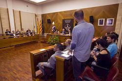 Ple de constitució de l'Ajuntament de Sabadell Maties Serracant en el seu torn de paraula.
