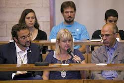 Ple de constitució de l'Ajuntament de Sabadell Montse Chacon en el seu torn de paraula.