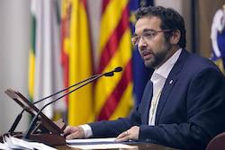 Ple de constitució de l'Ajuntament de Sabadell Juli Fernàndez en el seu discurs d'investidura.